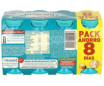 Kaiku Benecol Yogur líquido natural 6 unidades de 70 g + 2 gratis