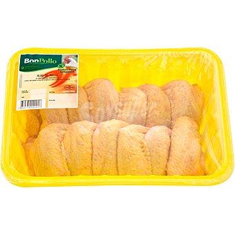 BONPOLLO Alas enteras de pollo formato ahorro peso aproximado Bandeja 1,2 kg