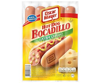 Oscar Mayer Salchicha hot dog extra queso Paquete 275 g
