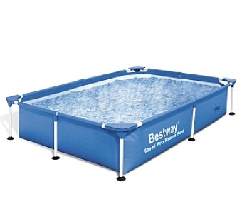 Bestway Piscina tubular infantil rectangular Deluxe Splash Frame con estructura metálica, 300x201x71 centímetros, 4281.3 litros 1 unidad