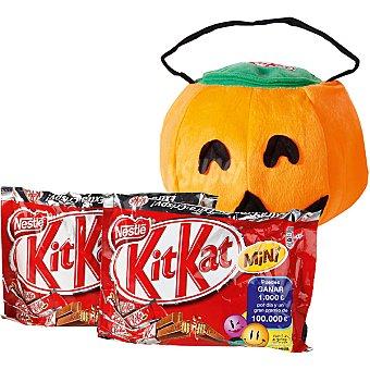 Kit Kat Nestlé Mini chocolatinas con regalo de una bolsa calabaza Truco o Trato Pack 2 bolsa 200 g