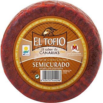 El Tofio queso de cabra semicurado con pimentón pieza 1,1 kg