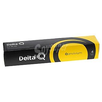Delta Q Café molido natural en cápsulas Qonvivium 10 unidades de 5,5 g