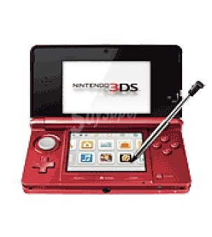 Nintendo Consola hardware rojo metalico 3DS
