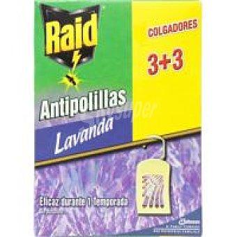 Raid Colgador antipolilla Caja 3+3 unid