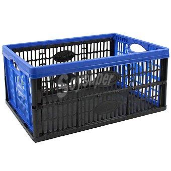 TONTARELLI Caja multiuso plegable en color azul y negro de 32 l