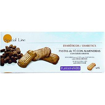 Special Line diabéticos pastas de té con almendras con edulcorante envase 205 g 15 unidades