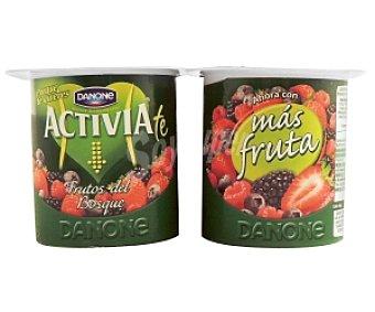 Activia Danone Yogur Bífidus con frutas del Bosque 4x125g