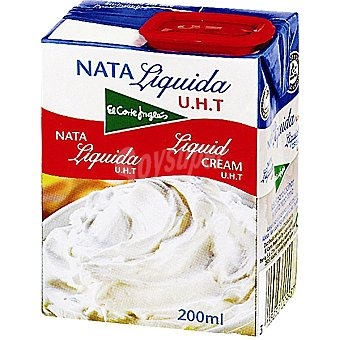 El Corte Inglés Nata líquida esterilizada Envase 200 ml