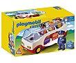 Escenario de juego Autobús con figuras y accesorios, 1.2.3 6773, playmobil  Playmobil 1.2.3