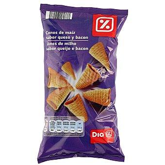 DIA Conos de maíz sabor queso y bacon Bolsa 85 gr