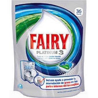 FAIRY Lavavajillas máquina Platinum limón 24+12 dosis