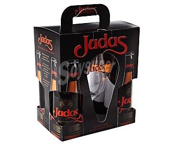 Judas Cerveza belga de importación 4 unidades + regalo 1 copa