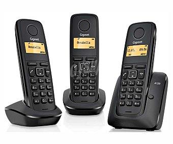 Gigaset Telefono inalámbrico trío Dect A120, identificador de llamada, agenda, registro de llamadas identificador de llamada, agenda, registro de llamadas