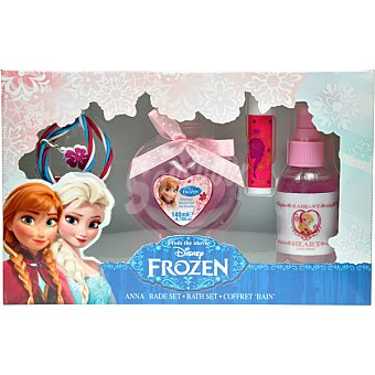 BEAUTY CARE Anna y Elsa estuche de baño con gel de baño + bálsamo labial + body spray 60 ml + pulsera envase 120 ml