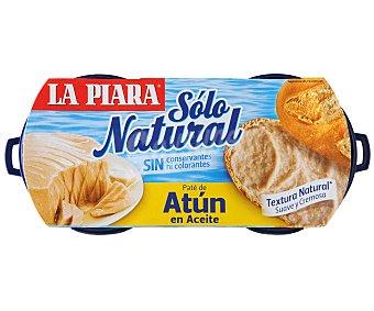 La Piara Paté de atún en aceite Pack 2 x 75 g