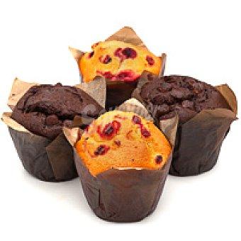 Surtido de muffins de chocolate-arándanos Bandeja 5 unid