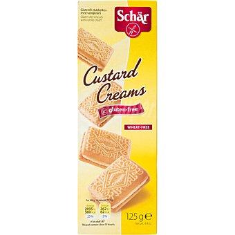 SCHAR Custard Creams Galletas con crema de natillas sin gluten sin lactosa Caja 125 g