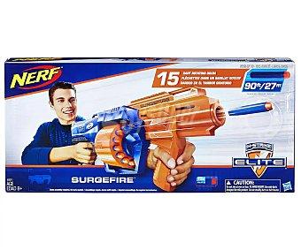 Nerf Pistola lanzadora de dardos de foam n-strike Elite Surgefire, incluye 15 dardos nerf n-strike Surgefire