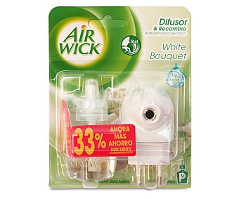 Air Wick Ambientador Eléctrico + Recambio White Bouquet 1 Unidad