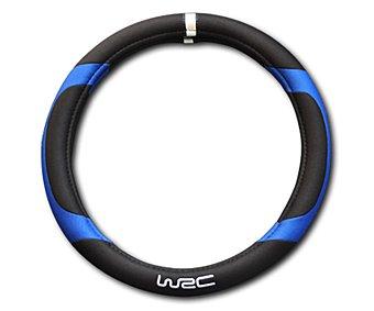 WRC Cubre Volante Universal de Color Negro con Acabados en Color Azul y con la Marca Impresa en el mismo 1 Unidad