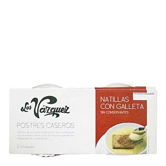Los Vazquez Natillas con galleta Pack 2x180 g