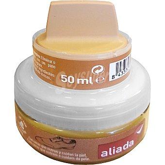 Aliada Limpia calzado crema autobrillante camel con esponja Tarro 50 ml
