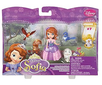 DISNEY Figura de la Princesa Sofía con 3 Mascotas 1 Unidad
