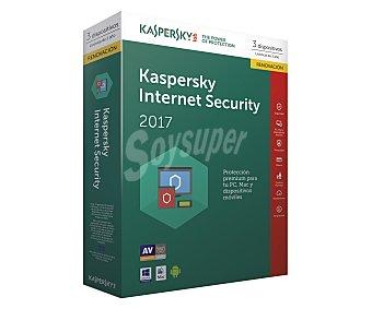 Kaspersky internet Antivirus SECURITY renovación para 3 PC, 2017