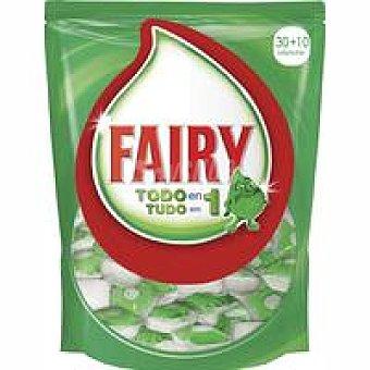 Fairy Lavavajillas máquina Todo en 1 Bolsa 30+10 dosis