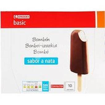 Eroski Basic Bombón de nata Pack 10x75 ml