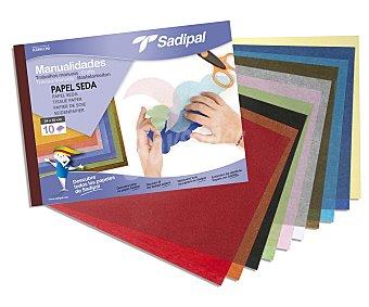 Sadipal Bloc de manualidades con 10 hojas de 32 x 24 centímetros, de papel de seda de diferentes colores sadipal 1u