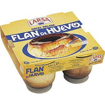 Larsa Flan de huevo Pack 4 unds. 110 g