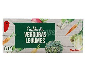 Auchan Caldo de verduras en pastillas 120 gramos