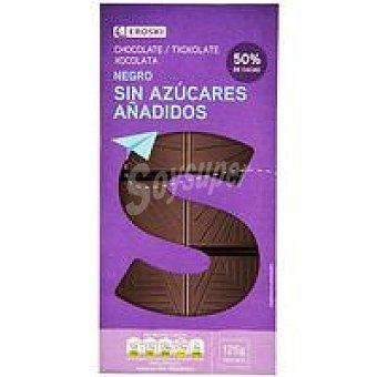 Eroski Chocolate negro sin azúcar Tableta 125 g