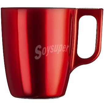 LUMINARC Flashy mug de vidrio metalizado en color rojo 25 cl