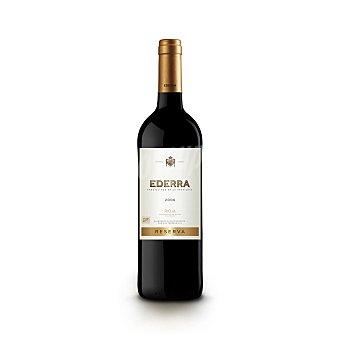 Ederra Vino tinto reserva con denominación de origen Rioja Botella de 75 centilitros