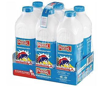 Pascual Leche Semidesnatada Pack de 6 x 1,2 l
