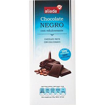 Aliada Chocolate negro con edulcorante sin azúcares Tableta 125 g
