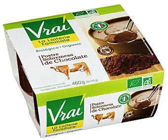 Vrai Yogur de chocolate ecológico 4 unidades de 115 gramos