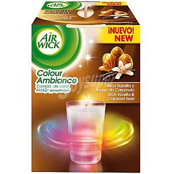 AIR WICK Colour Ambiance ambientador Vela vainilla y toque de caramelo  envase 1 unidad