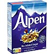 Muesli sin azúcares añadidos swiss style alpen Caja 560 g Alpen
