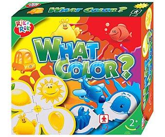 ONE TWO FUN ALCAMPO Juego de puzzles para aprender los colores, What's color? Incluye 5 puzzles de 4 piezas alcampo