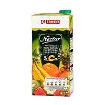 Eroski Néctar de cóctel de frutas con vitamina C Brik 1 litro
