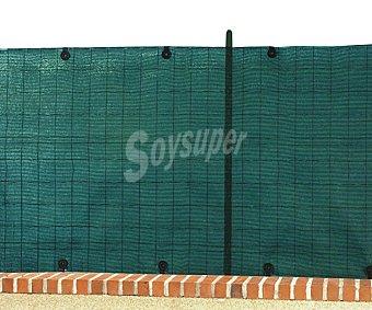 GARDELYS Malla de ocultación al 80% de color verde, indesmallable al corte, de polietileno de alta densidad y protegida de los rayos solares de 1.5x10 metros 1 unidad