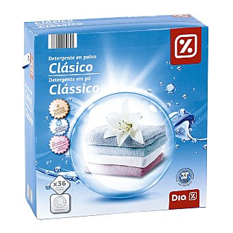 DIA Detergente máquina polvo maleta 36 cacitos 36 lavados
