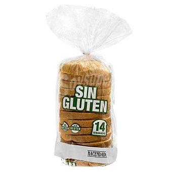 Hacendado Pan molde blanco sin gluten y sin lactosa 385 g