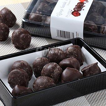 Cerezas rojas (al licor) con chocolate negro Bandeja 170 g