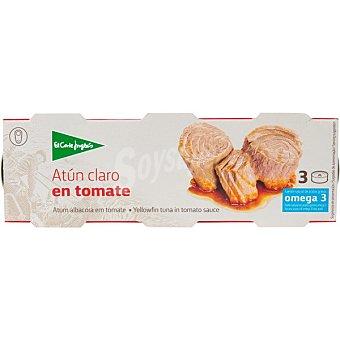 El Corte Inglés Atun claro en tomate neto escurrido pack 3 lata 52 g