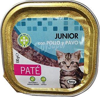 Lucy Comida gato junior paté pollo pavo Tarrina 100 g